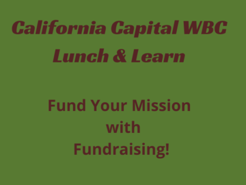 Announcement: Lunch & Learn: Fund Your Mission with Fundraising!