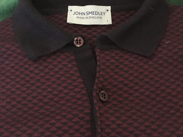 Selling with online payment: John Smendley knitted poloshirt L