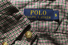 Selling with online payment: Polo microcheck shirt S