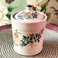 Selling with online payment: Unscented Candle in Vintage Cottagecore Floral Jar