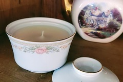 Selling with online payment: Berry Honeysuckle in Cottagecore Inspired Vintage Jar with Floral