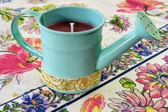 Selling with online payment: Cinnamon Vanilla Candle in Cottagecore Petite Watering Can Vessel