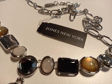 Liquidation/Wholesale Lot: 12 Jones New York Silver Tone & Stones Necklaces $528 Retail