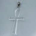 For Sale: Clear Ankh Necklace