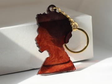 For Sale: Male Afro Keyring