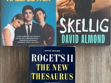 Selling with online payment: The Perks of being a wallflower, Skellig, Roget's Thesaurus