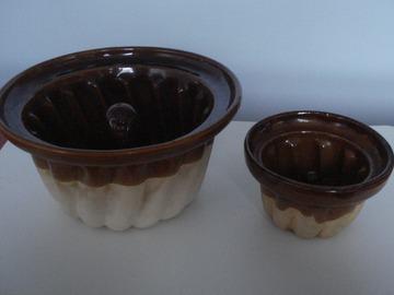 Vente: 2 moules à kugelhopf alsaciens