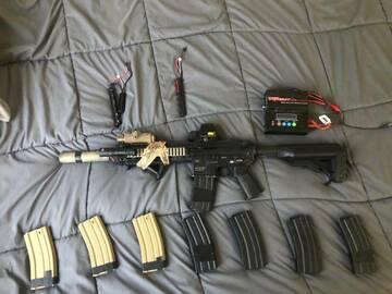 Selling: Elite force/VFC upgraded airsoft HK416 Custom build