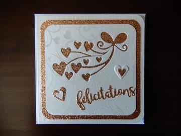 "Offre: Cartes "" FELICITATIONS DE MARIAGE"""