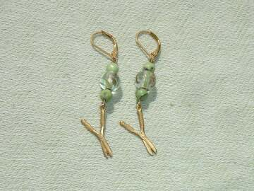 Selling with online payment: Gardening Shears Gemstone Dangle Earrings