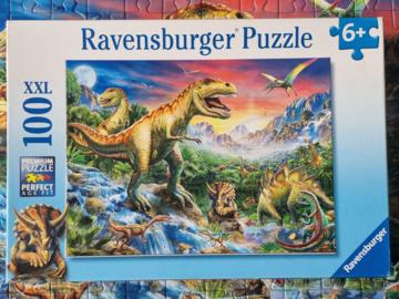 Vente avec paiement en ligne: Au Temps des Dinosaures - Puzzle XXL 100 pièces