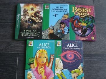Vente: Lot de 5 livres de la bibliothèque verte - 9/12 ans -