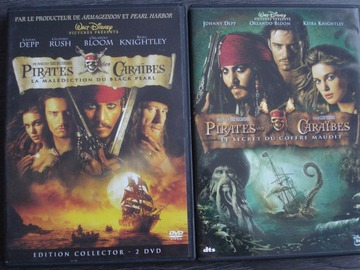 "Vente: Lot de 2 DVD ""Pirates des Caraïbes"""