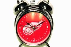 Liquidation/Wholesale Lot: NHL Detroit Red Wings Retro Twin Bell Alarm  Clock With Light