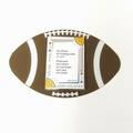 Liquidation/Wholesale Lot: Acrylic Football Themed Picture Frame Magnet – Holds 2.5″ X 3.5″