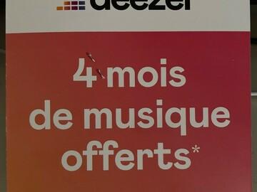 Vente: Carte Deezer Premium 4 mois (40€)