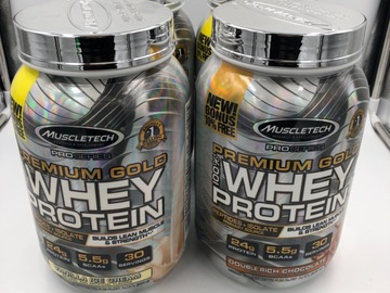 Liquidation / Lot de gros: 4 Muscletech Premium Gold Whey Protein 2.2 lbs
