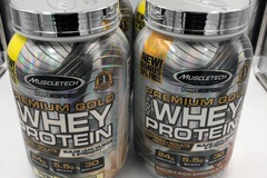 Liquidation/Wholesale Lot: 4 Muscletech Premium Gold Whey Protein 2.2 lbs