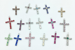 Liquidation/Wholesale Lot: 200 pieces Swarovski Crystal Crosses  lots colors and styles