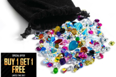 Liquidation/Wholesale Lot: Buy 1 Get 1 Free !1,000 pieces Swarovski crystal stones lot mixed