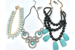 Liquidation/Wholesale Lot: 30 High End Boutique Statement Necklaces priced 59.95 ea = $1,798