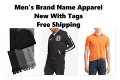 Liquidation/Wholesale Lot: Brand Name Men's Apparel, Polo UA Brooks Brothers & More, NWT