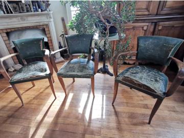 Vente: Lot de 3 chaises bridge