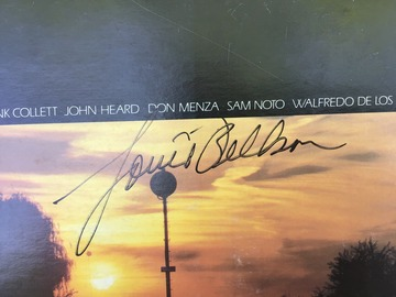 Selling with online payment: Signed Louie Bellson LP