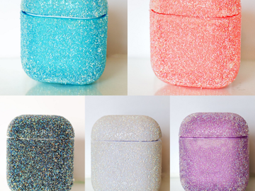 Liquidation/Wholesale Lot: 39 High-Quality Heavy Duty Glitter Airpod Cases!