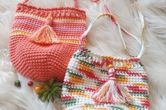 Selling with online payment: Boho Summer Vibes Crossbody Cotton Pouch Bag