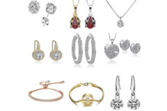 Liquidación / Lote Mayorista: $4,000.00 Swarovski Elements Jewelry Mystery lot