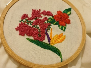 Offering with online payment: Learn handmade mauritian embroidery!