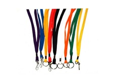 Liquidation/Wholesale Lot: 1/4″ Flat Cord Lanyards – Assorted Colors
