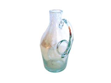 Vente: Pichet en verre bullé avec réservoir à glaçons