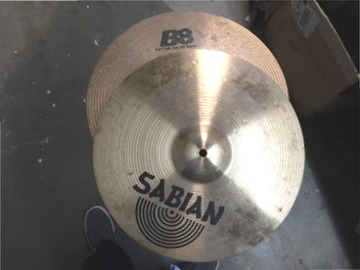 "Selling with online payment: Sabian BB 14"" matching pair hi hat cymbals"