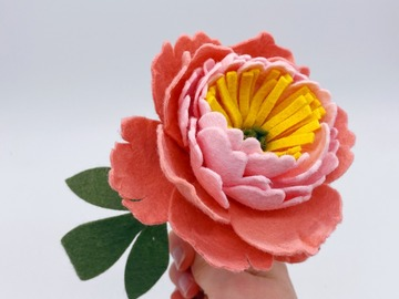 Selling: Mother's Day Single Stem Felt Peony