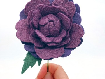 Selling: Mother's Day Single Stem Felt Ranunculus