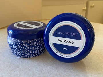 Selling: Volcano Blue Mini Tin Candle
