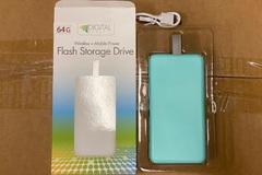 Liquidation/Wholesale Lot: iphone ipad 2in1 Wireless 64GB USB Drive & Power Bank 8000mAh