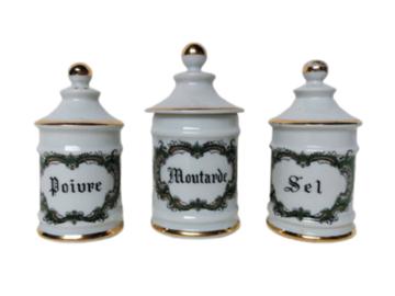 Vente: Salière, poivrière et moutardier