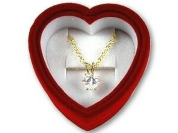 Liquidation / Lot de gros: 100 pcs -Mother's Day--3.0ct  CZ Neck w/ VelvetGift Box--$1.49pcs