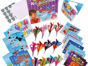 Liquidation / Lot de gros: Paper Airplanes All Occasion Greeting Cards Lot of 20