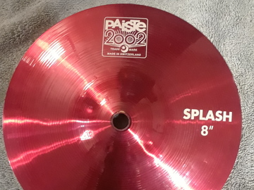 "Selling with online payment: Paiste 2002 8"" Splash Cymbal - Custom Red"