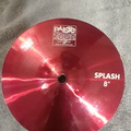"""Selling with online payment: Paiste 2002 8"""" Splash Cymbal - Custom Red"""