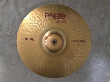 "Selling with online payment: Paiste 3000 RUDE 16"" CRASH/RIDE Cymbal"