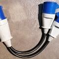 Vermieten: CEE 63 auf 2 CEE 32 Adapter Blaue Stecker
