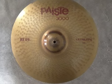"Selling with online payment: Paiste 3000 RUDE 17"" CRASH/RIDE Cymbal"