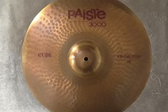 """Selling with online payment: Paiste 3000 RUDE 18"""" CRASH/RIDE Cymbal"""
