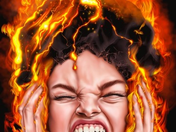 Sell Artworks: Furious Anger (Ready-to-hang)