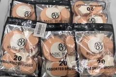 Liquidation/Wholesale Lot: 12 Packs Bazic Beauty Assorted Makeup Sponges